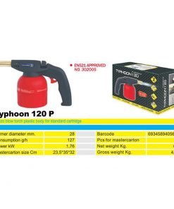 2169 + Plinski brener na kartušu TYPHOON 120 P, - ručni, sa upaljačem ABS,Ferro-pack