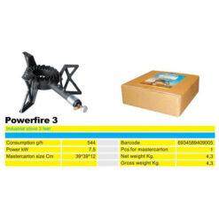 2241 + Industrijski plamenik na postolju - tronožac POWERFIRE 3,Ferro-pack