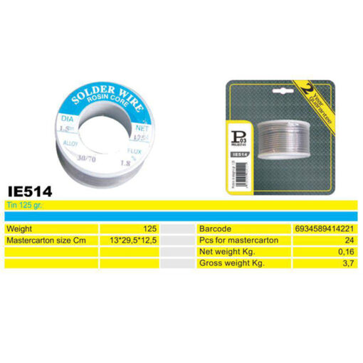 2416 + Žica za lemljenje na kolutu, 1,5 mm, 125 gr, IE514,Ferro-pack