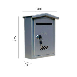 2483+ Poštanski sandučić TIP 6, sa dvostranim krovom, h-275, l-200, d-75 mm,Ferro-pack
