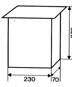 2606 + Poštanski sandučić INOX tip 646, 230 x 270 x 70 mm, sa bravicom,Ferro-pack