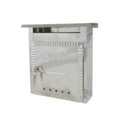 2606 - Poštanski sandučić INOX tip 646, 230 x 270 x 70 mm, sa bravicom,Ferro-pack