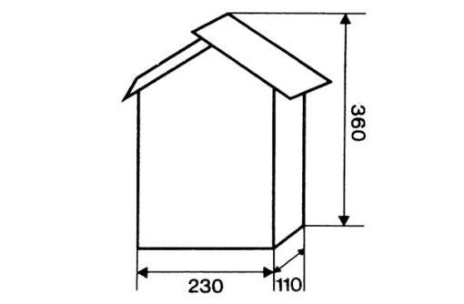 2607 + Poštanski sandučić INOX tip 647, 230 x 360 x 110 mm, sa bravicom,Ferro-pack