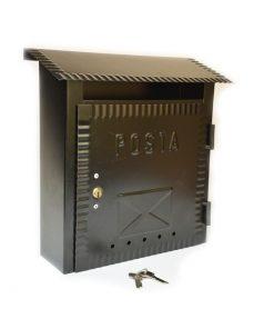 2608 - Poštanski sandučić kovani tip 641, 230 x 270 x 70 mm, crni sa bravicom,Ferro-pack