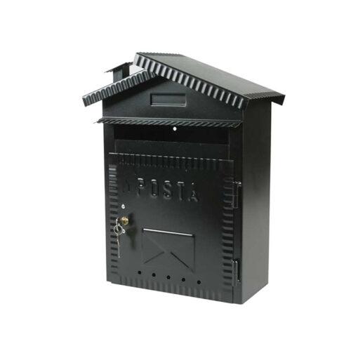2609 - Poštanski sandučić kovani tip 642, 230 x 360 x 110 mm, crni sa bravicom,Ferro-pack
