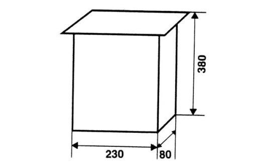 2610 + Poštanski sandučić kovani tip 652, 230 x 380 x 80 mm, crni sa bravicom,Ferro-pack