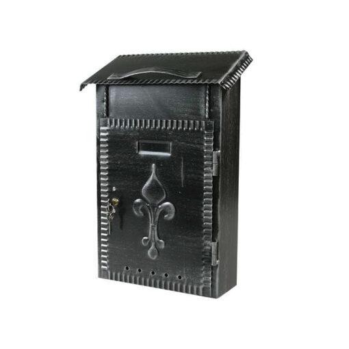 2610 - Poštanski sandučić kovani tip 652, 230 x 380 x 80 mm, crni sa bravicom,Ferro-pack