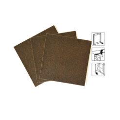 8543 - Filc 100 x 100 mm x 1 kom, visoke kvalitete i gustoće, jako ljepilo, smeđi,Ferro-pack