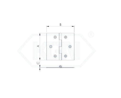 2484 - Baglama INOX, 1 mm,Baglama-AxBxC-INOX,Ferro-pack