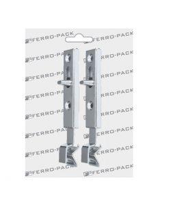 P2077 Zatvarač za vrata, l - 70 mm, ravni, niklovani ; 2 kom,Ferro-pack