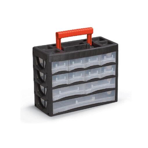 2160 - Plastični oroganizer PL 02 - vertikalna sa ručkom, 270 x 315 x 140 mm, 11 dijelova,Ferro-pack