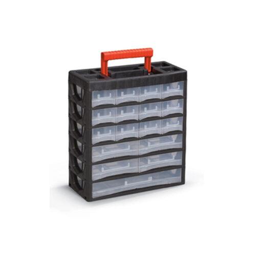 2161 - Plastični oroganizer PL 04 - vertikalna sa ručkom, 385 x 315 x 140 mm, 17 dijelova,Ferro-pack