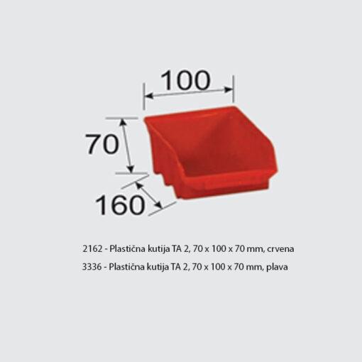 2162+3336 -Plastična kutija TA 2, 70 x 100 x 70 mm,Ferro-pack
