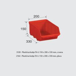 3338+2164 - Plastična kutija TA 4, 150 x 200 x 330 mm,,Ferro-pack