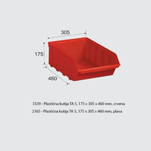 3339+2165 - Plastična kutija TA 5, 175 x 305 x 460 mm,Ferro-pack