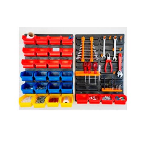 3340 - Plastični zidni panel DP 01, 840 x 590 x 20 mm, 44 dijela,Ferro-pack