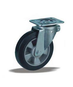 3342 - Liv kotač fi100 mm okretni sa nalivenom gumom - elastic, 170 kg,Ferro-pack