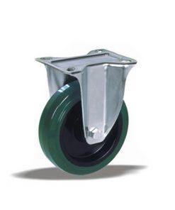 3353 - Liv kotač PA fi 100 mm fiksni elastic zelena-150kg,Ferro-pack