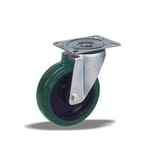 3354 - Liv kotač PA fi 100 mm okretni elastic zelena-150kg,Ferro-pack