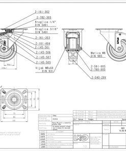 3355+Liv kotač PA fi 100 mm okretni sa kočnicom elastic zelena-150kg,Ferro-pack