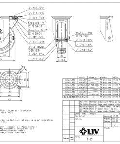 3357 - Liv kotač PA fi 125 mm okretni elastic zelena-200kg,Ferro-pack