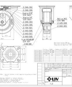 3361 - Liv kotač PA fi 160 mm okretni sa kočnicom elastic zelena-300kg,Ferro-pack