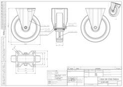3362 - Liv kotač PA fi 200 mm fiksni elastic zelena-300kg,Ferro-pack