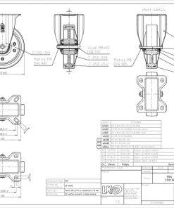 3365+Liv kotač PA fi 125 mm fiksni poliuretan zelena-200kg,Ferro-pack