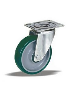 3366 - Liv kotač PA fi 125 mm okretni poliuretan zeleni-200kg,Ferro-pack