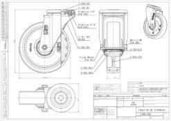 3368+Liv kotač sa rupom M12 PA fi 125 mm okretni poliuretan zeleni -200kg,Ferro-pack