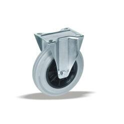 3370 - LIV kotač PP fiksni fi 80 mm siva guma -INOX 65-kg,Ferro-pack