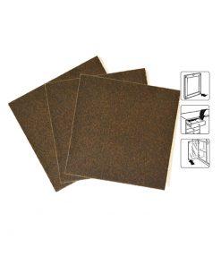 8540 – Filc 100 x 100 mm, 1 komad, smeđi, bijela podloga,Ferro-pack
