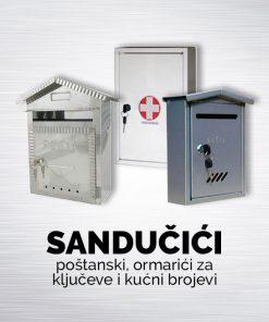Poštanski sandučići,ormariči za ključeve i kućni brojevi