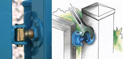 2569 - Regulirajuča baglama za teška vrata M 16 (za zavarivanje),Ferro-pack, ++