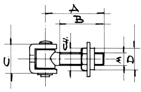 2569 - Regulirajuča baglama za teška vrata M 16 (za zavarivanje),Ferro-pack,Sema