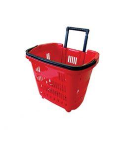 TM16-TEGOMETAL trgovačka korapa na kotačima PVC 38 lit, crvena,Ferro-pack