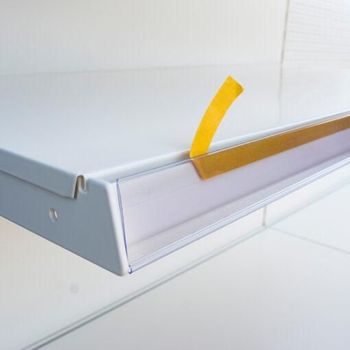 TM17 ++ TEGOMETAL PVC nosač cijena prozirni 988 x 40 mm,Ferro-pack