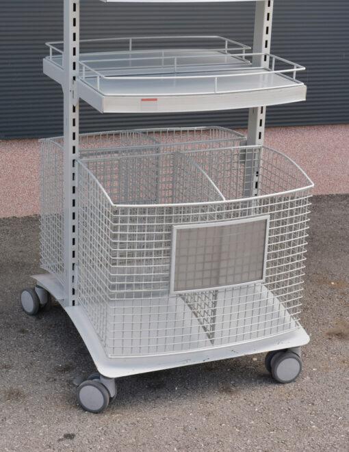 TO609 + Dvostrani stalak sa kotačima, h-180 cm, P +4 od 30x60 cm,fERRO-PACK