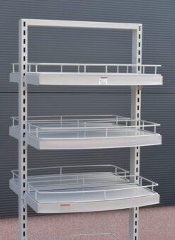TO609 ++++ Dvostrani stalak sa kotačima, h-180 cm, P +4 od 30x60 cm,fERRO-PACK