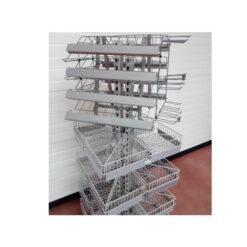TO611 + Blagajnički stalak h185 I 60X60, 20 korpi od 28x28, 10 reda polica za žvake,Ferro-pack