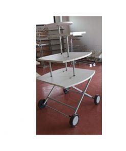 TO613 - Prodajni stolič, h150 4 kata : 85x85, 75x75, 40x40 i fi 50,Ferro-pack