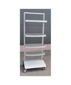 TO610 - Jednostrani stalak sa kotačima, h-180 cm, P + 5,Ferro-pack