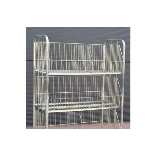 TO615 ++ Kontejner za transport robe sa kotačima - pocinčani, 42 x 90 cm, h-165 cm, P + 3 ,Ferro-pack