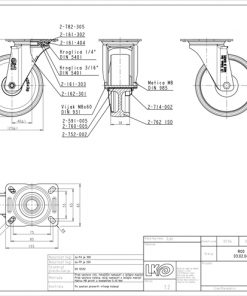 2122 - LIV bijeli PVC kotač okretni fi 125 mm,Ferro-pack