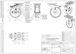 2123 - LIV bijeli PVC kotač okretni sa kočnicom fi 125 mm,Ferro-pack