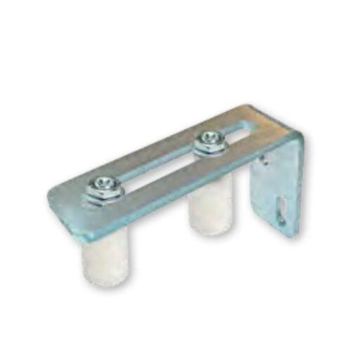 Bočini PVC - nylon kotač za kliznu kapiju, 2 kom fi 40 x 60 mm sa otvorenim nosačem, bijeli