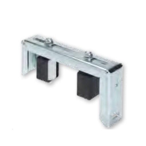 Bočni PVC - nylon kotač za kliznu kapiju, 2 kom fi 40 x 60 mm, sa zatvorenim nosačem, bijeli