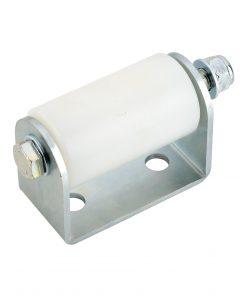 Bočni PVC - nylon kotač za kliznu kapiju, fi 60 x 122 mm, sa bočnim nosačem, bijeli