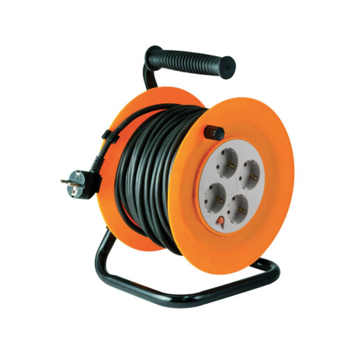 Motalica za kabel 4 utičnice, 40 met, IP20