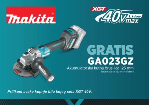 Gratis aku brusilica uz Makita XGT 40V